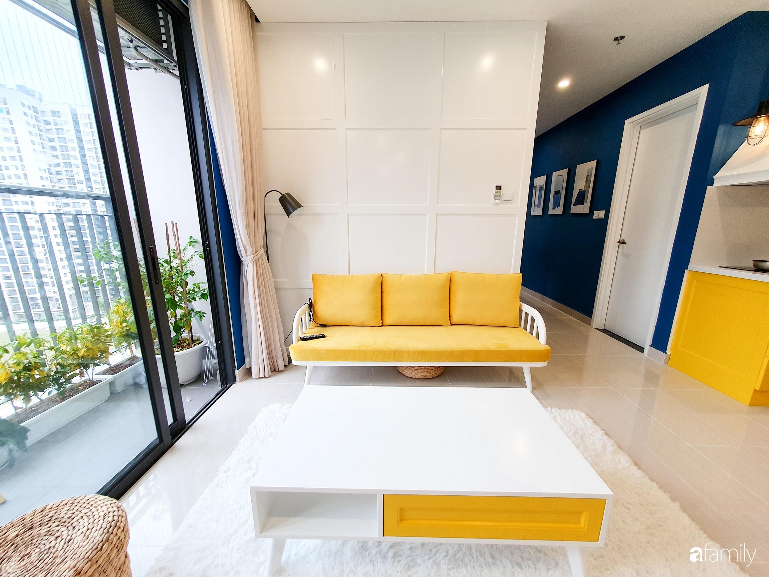 Căn hộ 75m² cá tính với cách phối màu vàng - xanh tinh tế có chi phí hoàn thiện 270 triệu đồng ở Hà Nội - Ảnh 3.