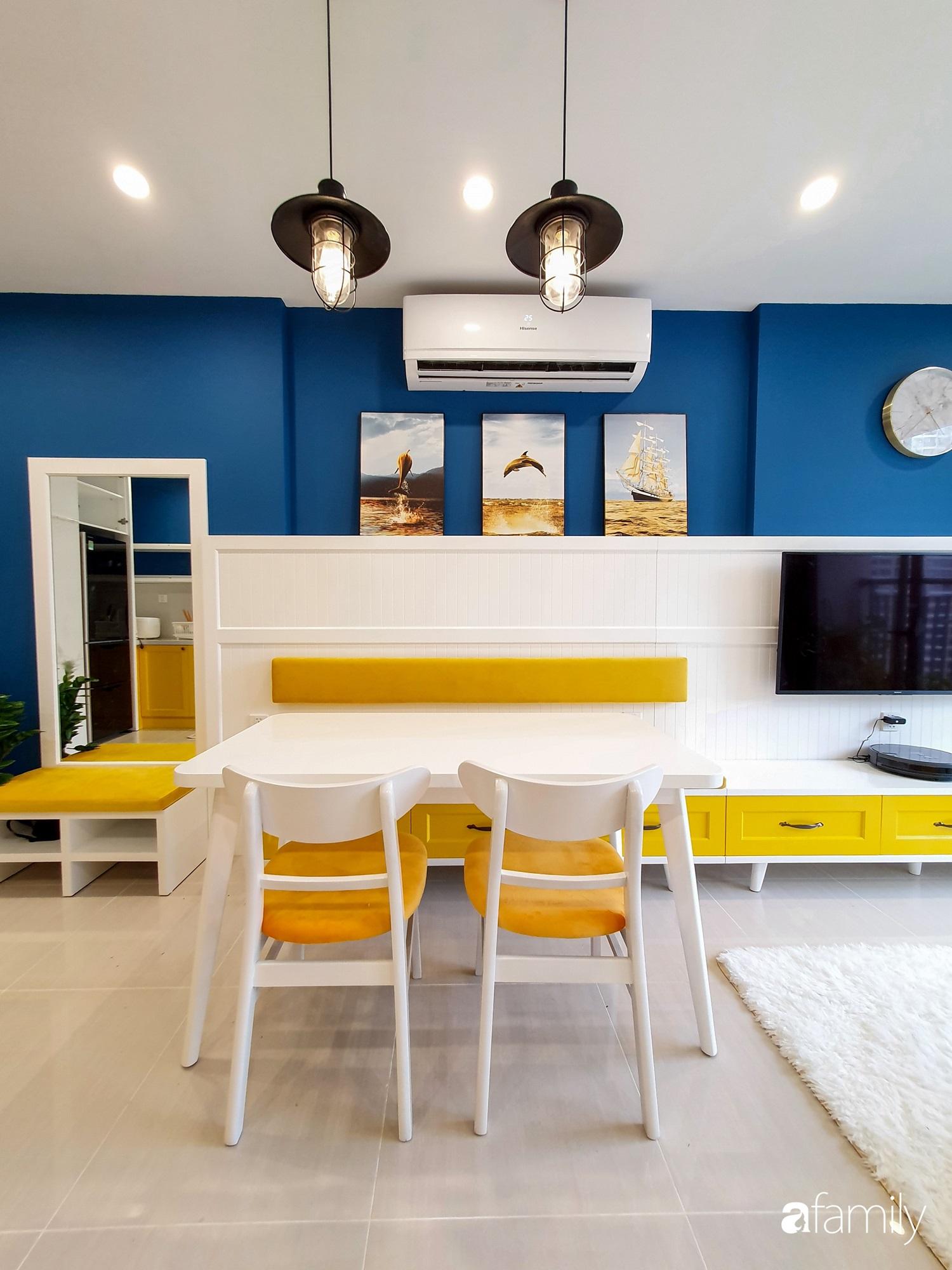 Căn hộ 75m² cá tính với cách phối màu vàng - xanh tinh tế có chi phí hoàn thiện 270 triệu đồng ở Hà Nội - Ảnh 6.