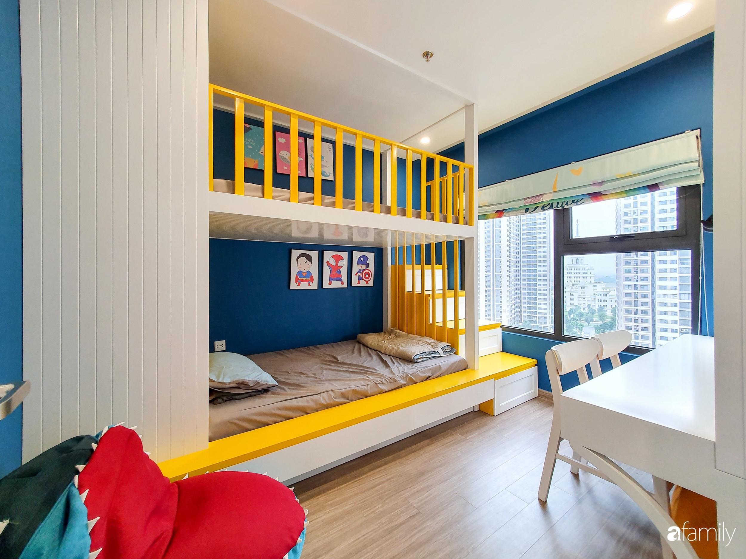 Căn hộ 75m² cá tính với cách phối màu vàng - xanh tinh tế có chi phí hoàn thiện 270 triệu đồng ở Hà Nội - Ảnh 14.