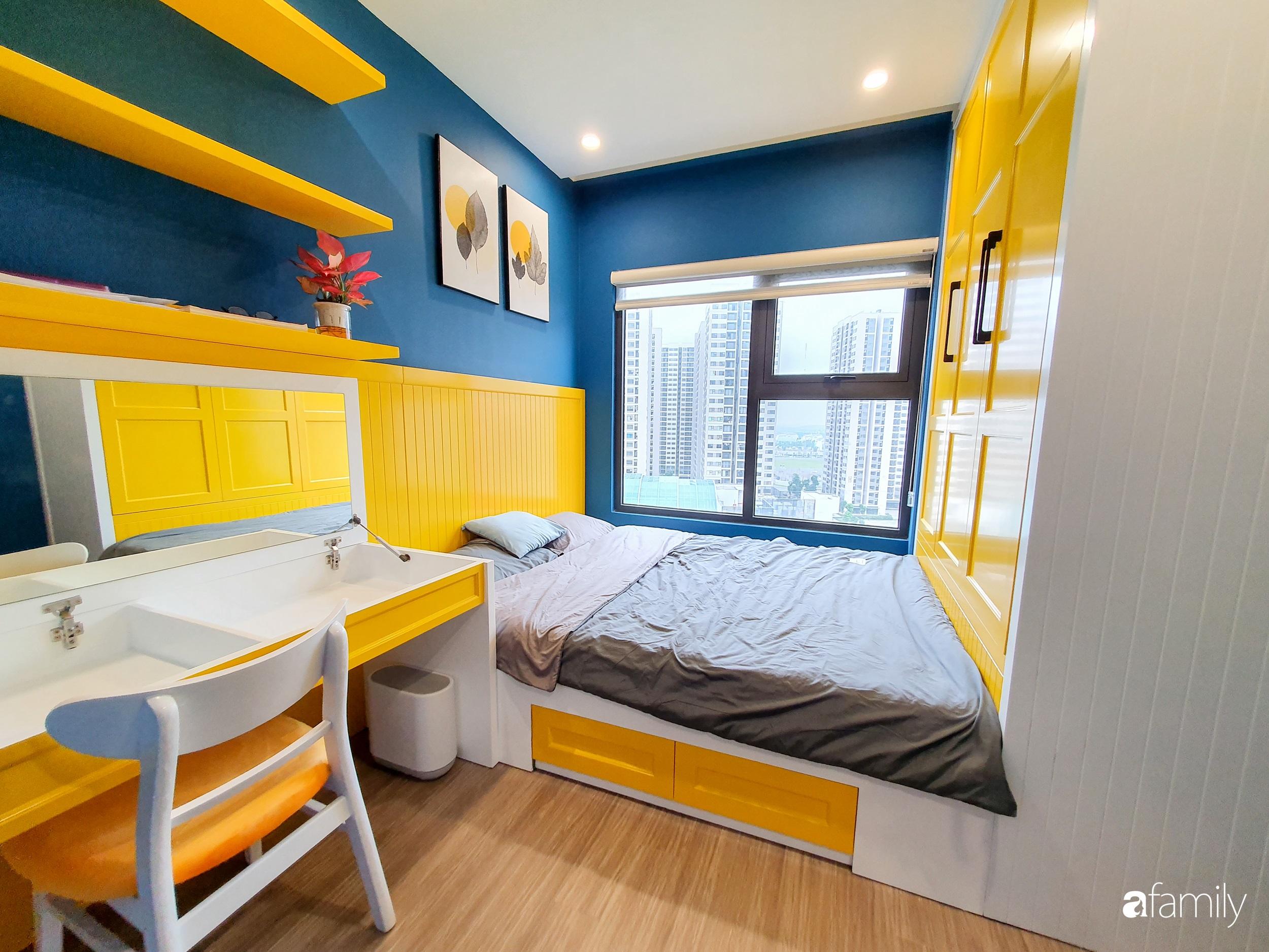 Căn hộ 75m² cá tính với cách phối màu vàng - xanh tinh tế có chi phí hoàn thiện 270 triệu đồng ở Hà Nội - Ảnh 11.
