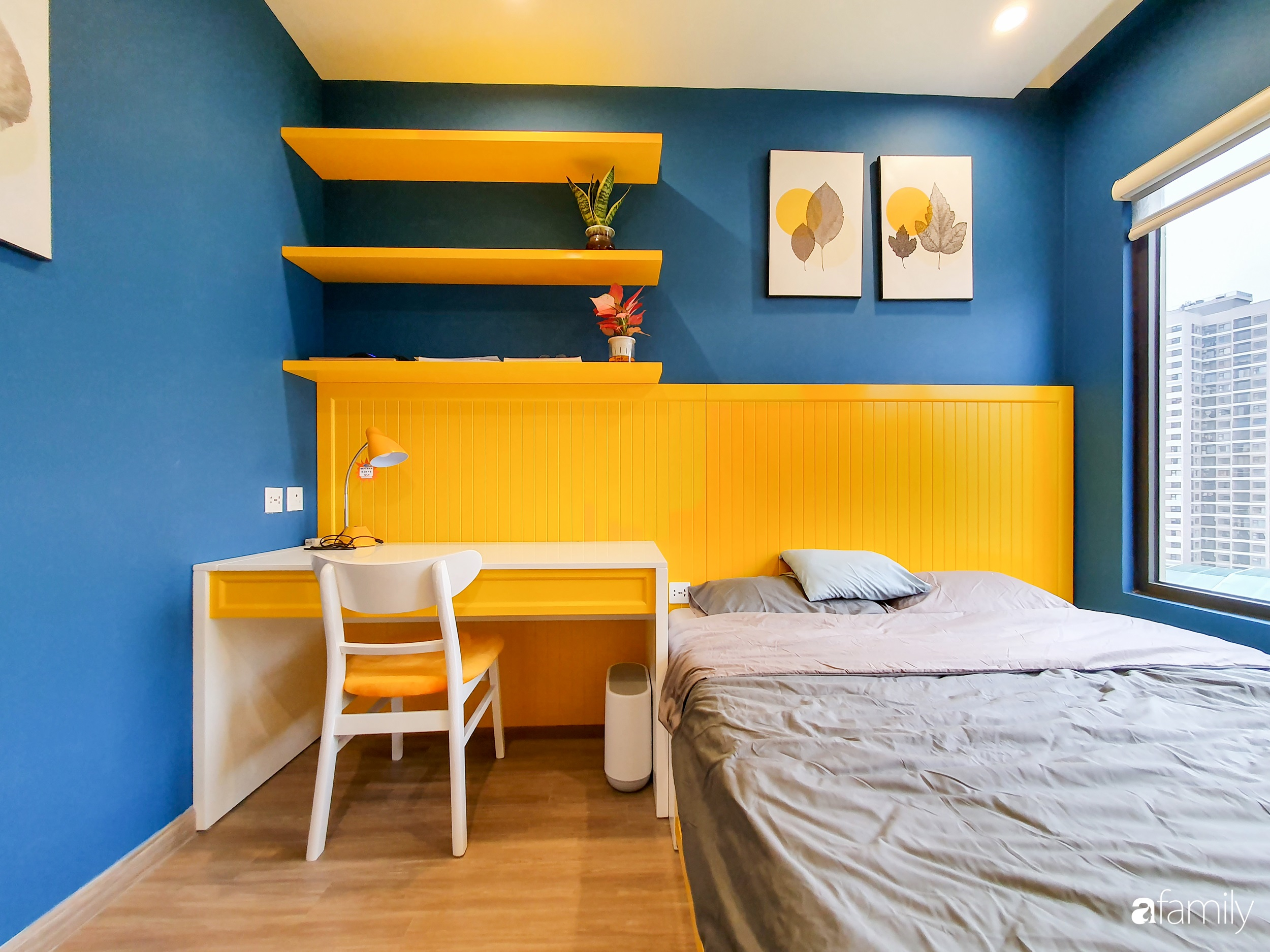 Căn hộ 75m² cá tính với cách phối màu vàng - xanh tinh tế có chi phí hoàn thiện 270 triệu đồng ở Hà Nội - Ảnh 12.