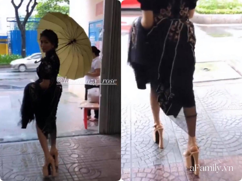 """Đúng là cùng """"hội chị em"""" với Hương Giang, Hòa Minzy đi đôi cao gót nhìn thót tim, hô biến 1m55 thành 1m80 chỉ trong chớp mắt - Ảnh 3."""