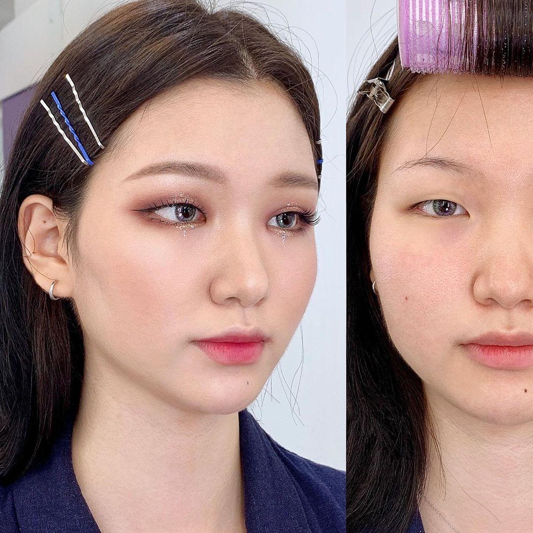 Mũi tẹt và mặt to nhưng gương mặt của cô nàng này đã thay đổi hoàn toàn nhờ tuyệt chiêu makeup - Ảnh 2.