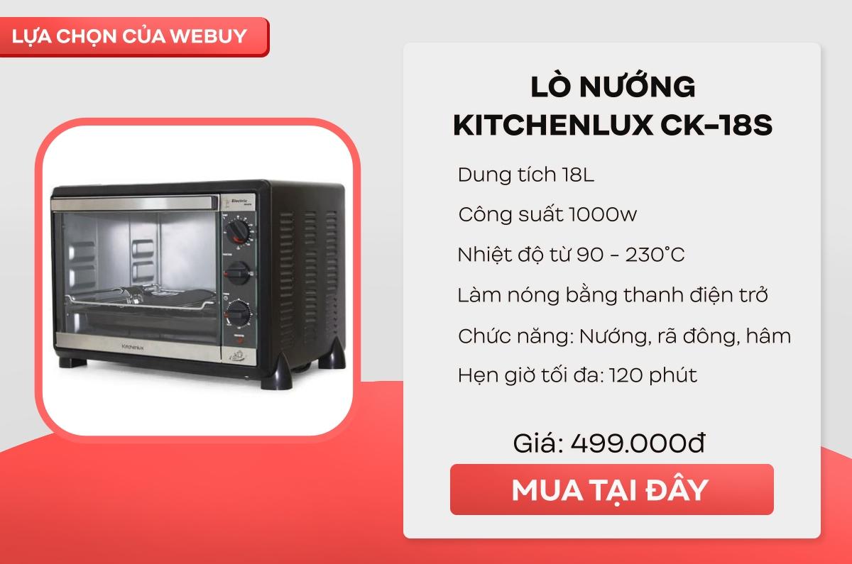 """Tinh thần """"Yêu Bếp, Nghiện Nhà"""" cao mà hầu bao eo hẹp thì đây là 4 mẫu lò nướng mini giá chỉ từ 350.000 đồng cho chị em thử sức - Ảnh 4."""