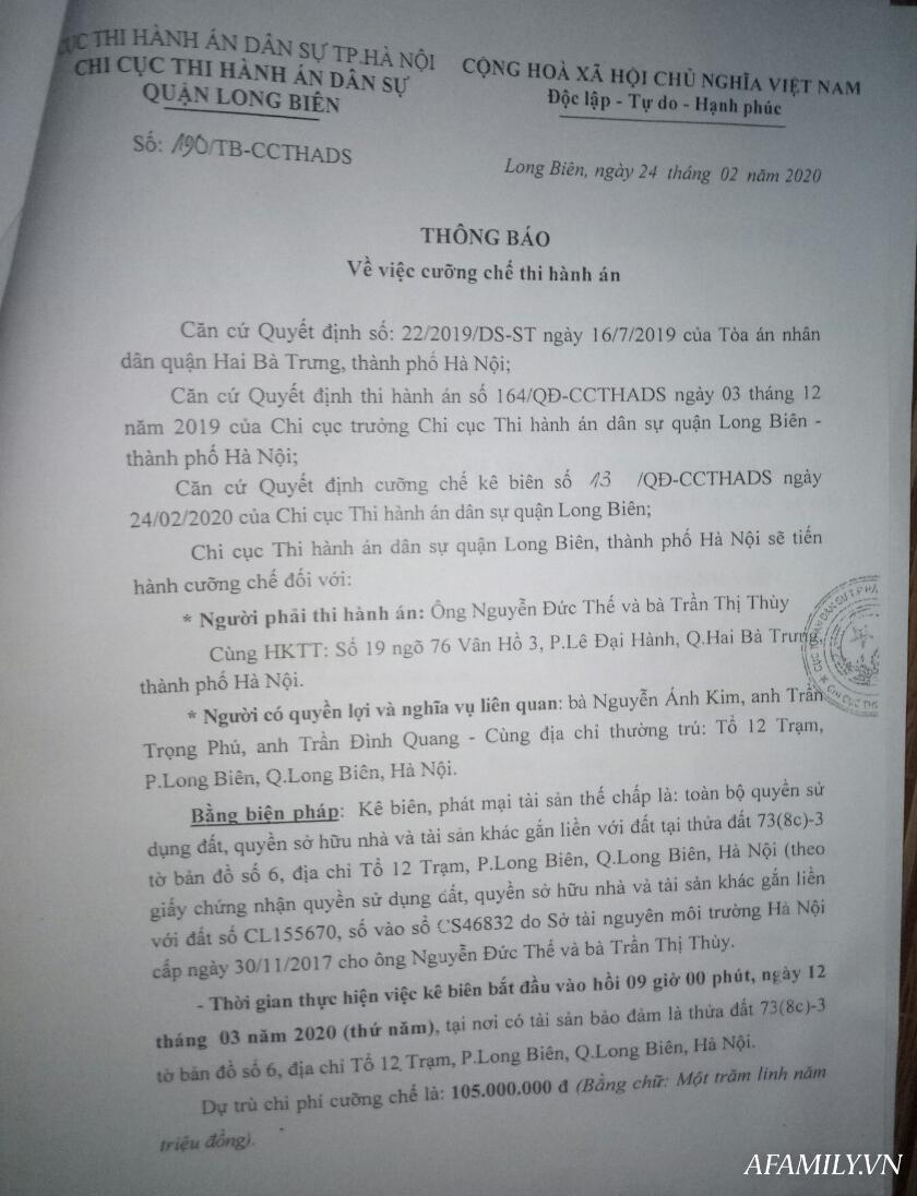 Hà Nội: Sập bẫy vay ngân hàng hộ, người phụ nữ chết điếng vì bỗng dưng nhận thông báo cưỡng chế thu hồi nhà - Ảnh 4.