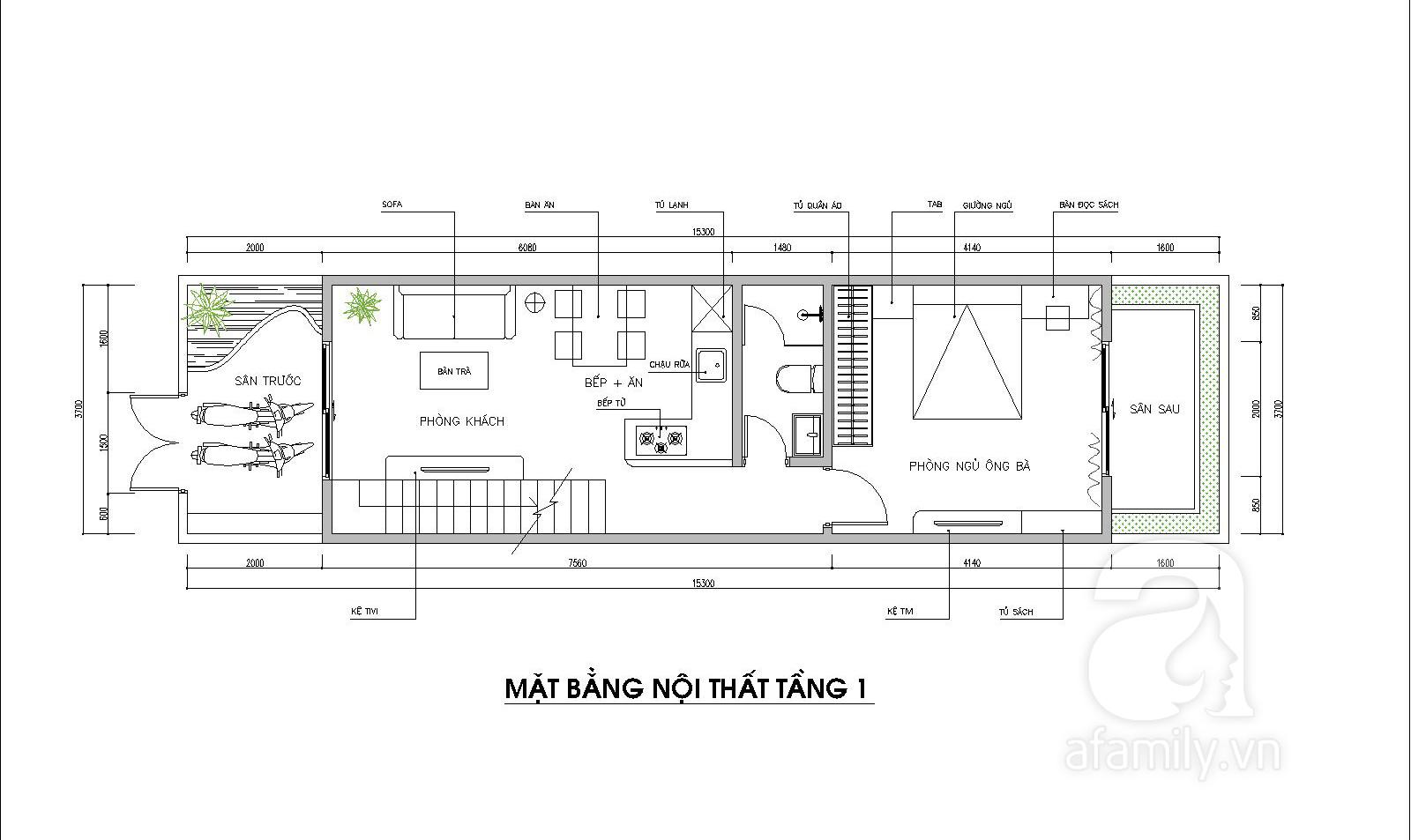 Tư vấn thiết kế căn nhà phố 2 tầng cho ông bà ở với chi phí 185 triệu đồng - Ảnh 2.