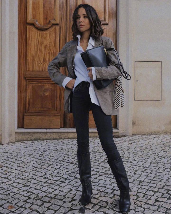 Nàng blogger chỉ cao 1m55 vẫn mặc đẹp quá và sang khiến đồng nghiệp khen tới tấp và thi nhau copy theo - Ảnh 10.