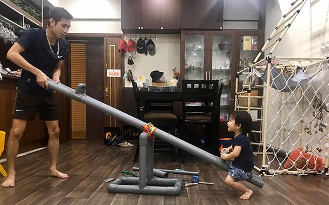 Trông con bận bao việc, mẹ đảm vẫn tranh thủ làm cho bé chiếc ghế ăn dặm bằng ống nước cực xinh, ai cũng hỏi cách làm - Ảnh 8.