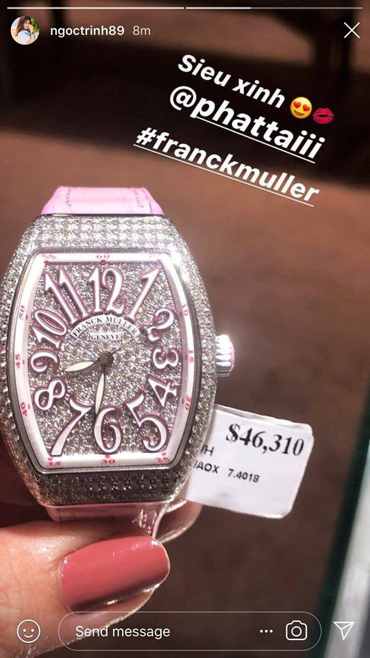 """Ngọc Trinh vừa """"chốt đơn"""" đồng hồ 1,8 tỷ nhanh gọn nhưng đây chưa phải chiếc đắt nhất trong BST đồng hồ của cô - Ảnh 11."""
