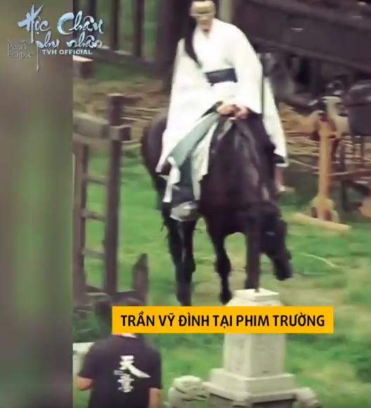 Dương Mịch làm phi tần xinh đẹp, Trần Vỹ Đình không dùng thế thân tự cưỡi ngựa trên trường quay  - Ảnh 6.