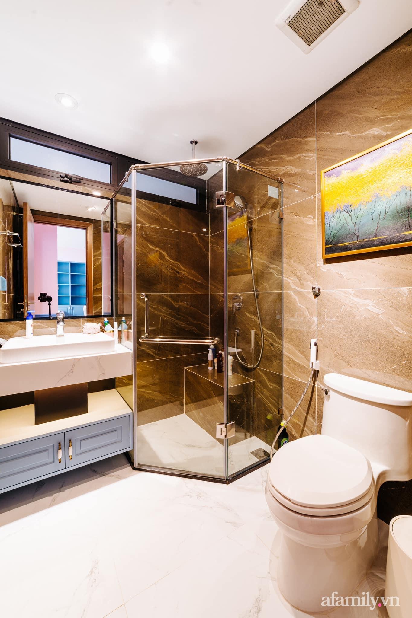 Căn hộ 45m² đẹp không góc chết với điểm nhấn màu xanh hồng cực chất có chi phí hoàn thiện 200 triệu đồng ở Hà Nội - Ảnh 17.
