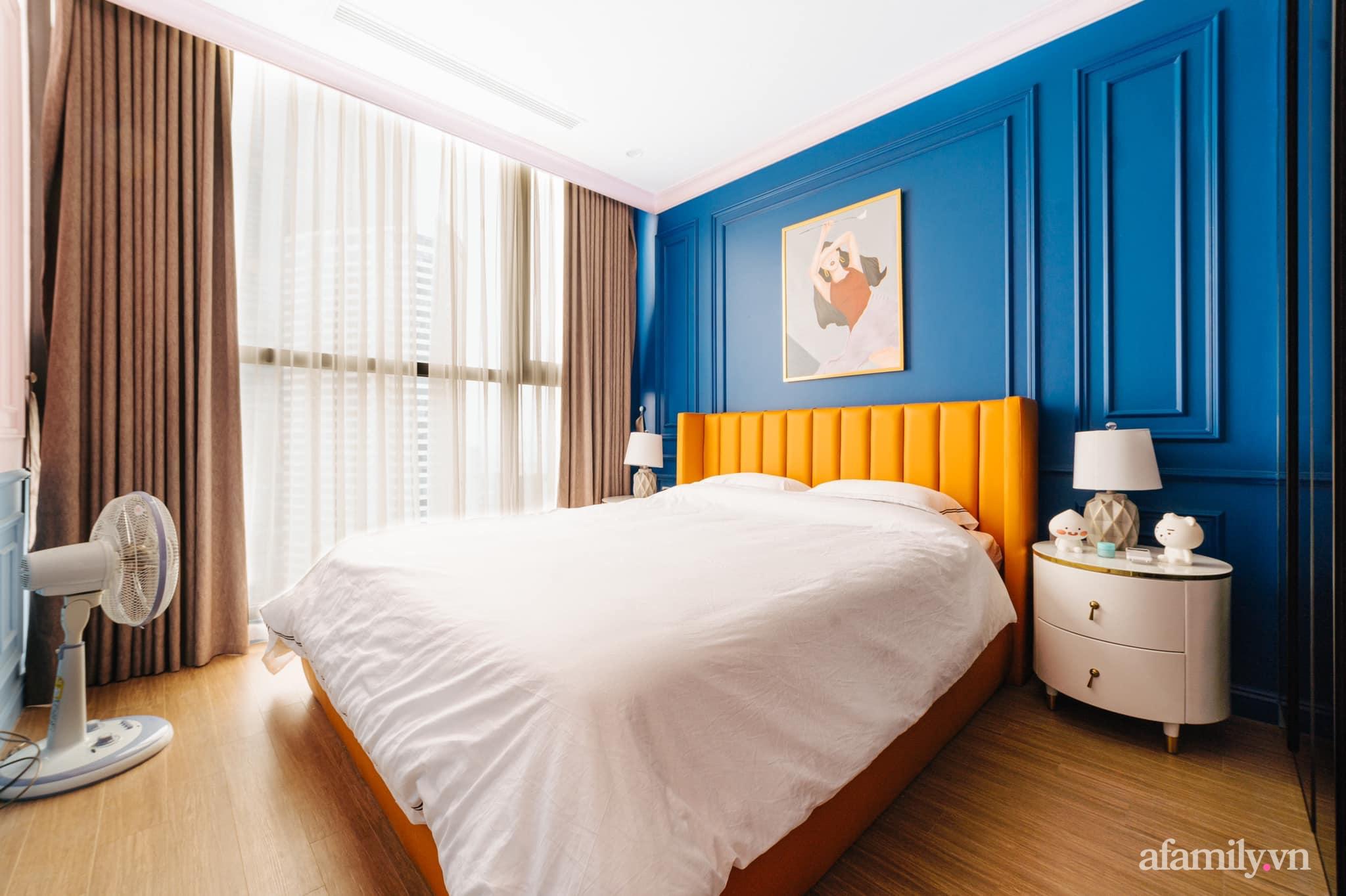 Căn hộ 45m² đẹp không góc chết với điểm nhấn màu xanh hồng cực chất có chi phí hoàn thiện 200 triệu đồng ở Hà Nội - Ảnh 13.