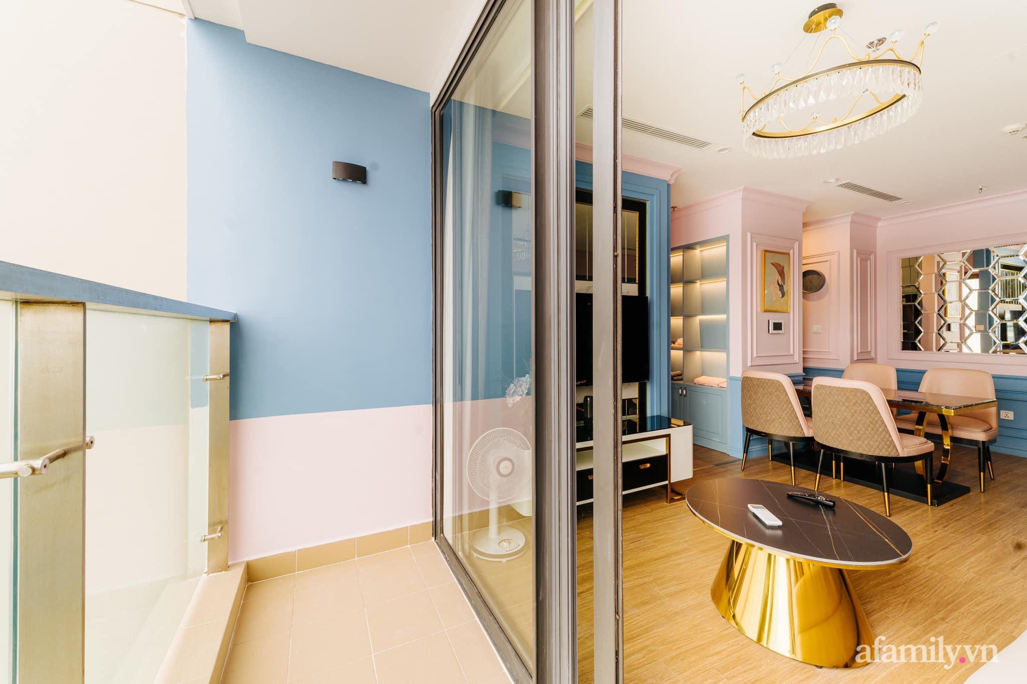 Căn hộ 45m² đẹp không góc chết với điểm nhấn màu xanh hồng cực chất có chi phí hoàn thiện 200 triệu đồng ở Hà Nội - Ảnh 5.