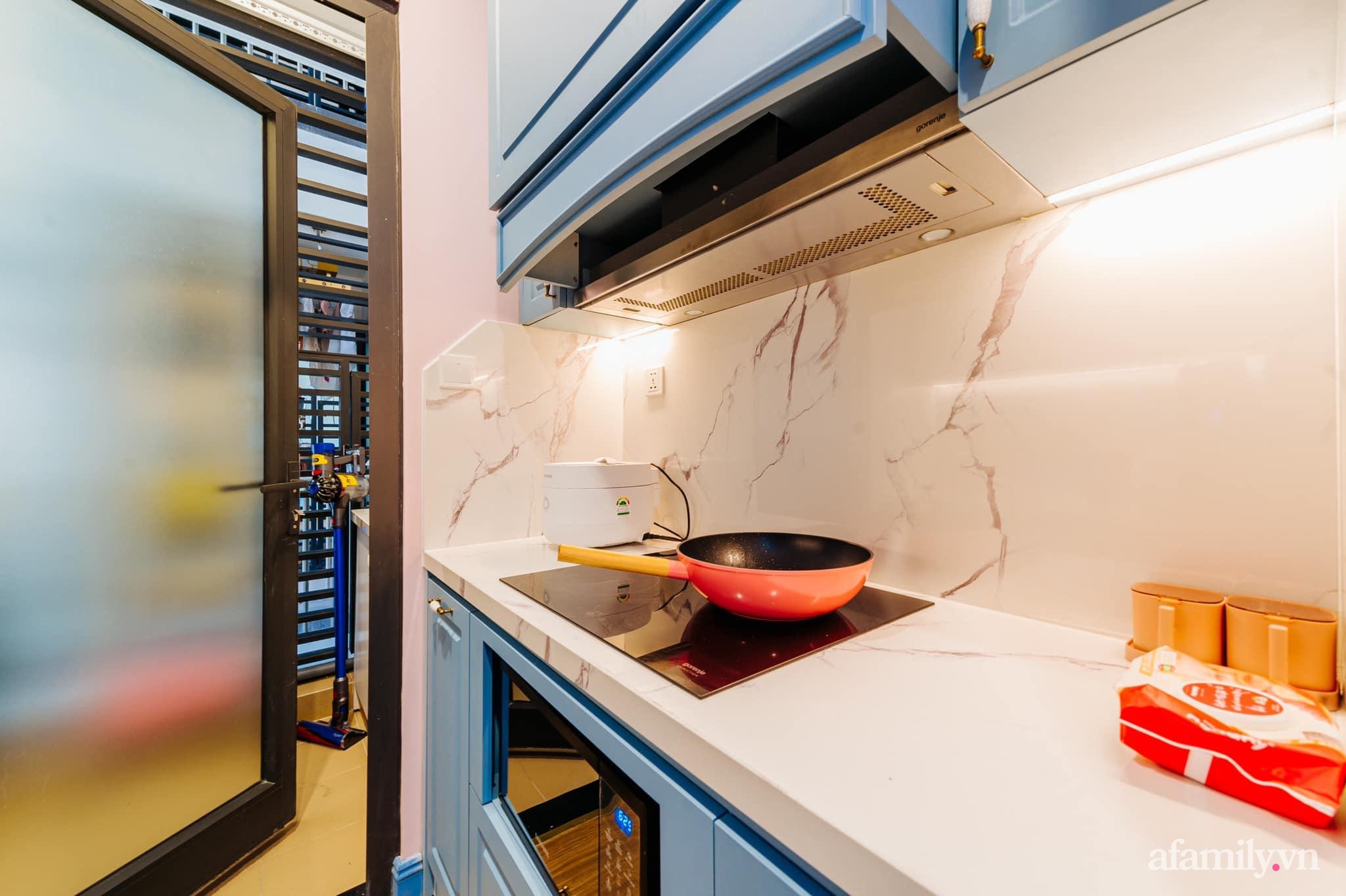 Căn hộ 45m² đẹp không góc chết với điểm nhấn màu xanh hồng cực chất có chi phí hoàn thiện 200 triệu đồng ở Hà Nội - Ảnh 10.