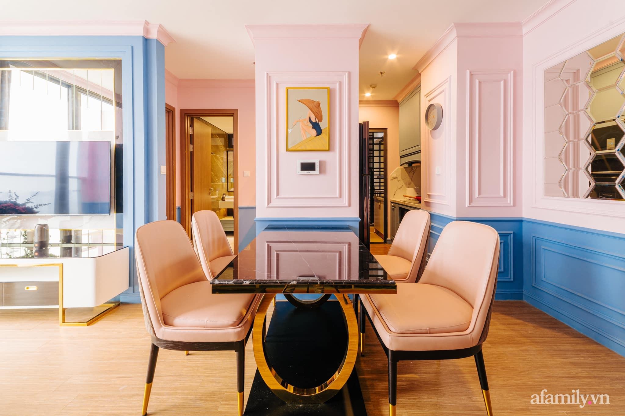 Căn hộ 45m² đẹp không góc chết với điểm nhấn màu xanh hồng cực chất có chi phí hoàn thiện 200 triệu đồng ở Hà Nội - Ảnh 11.