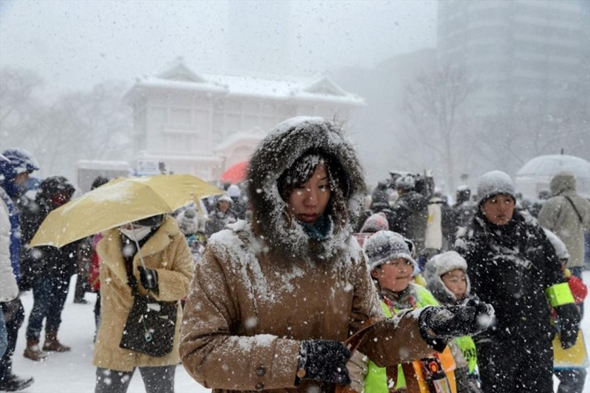 Tuyếtrơi dày tại Nhật Bản khiến hàng chục người thiệt mạng - Ảnh 1.