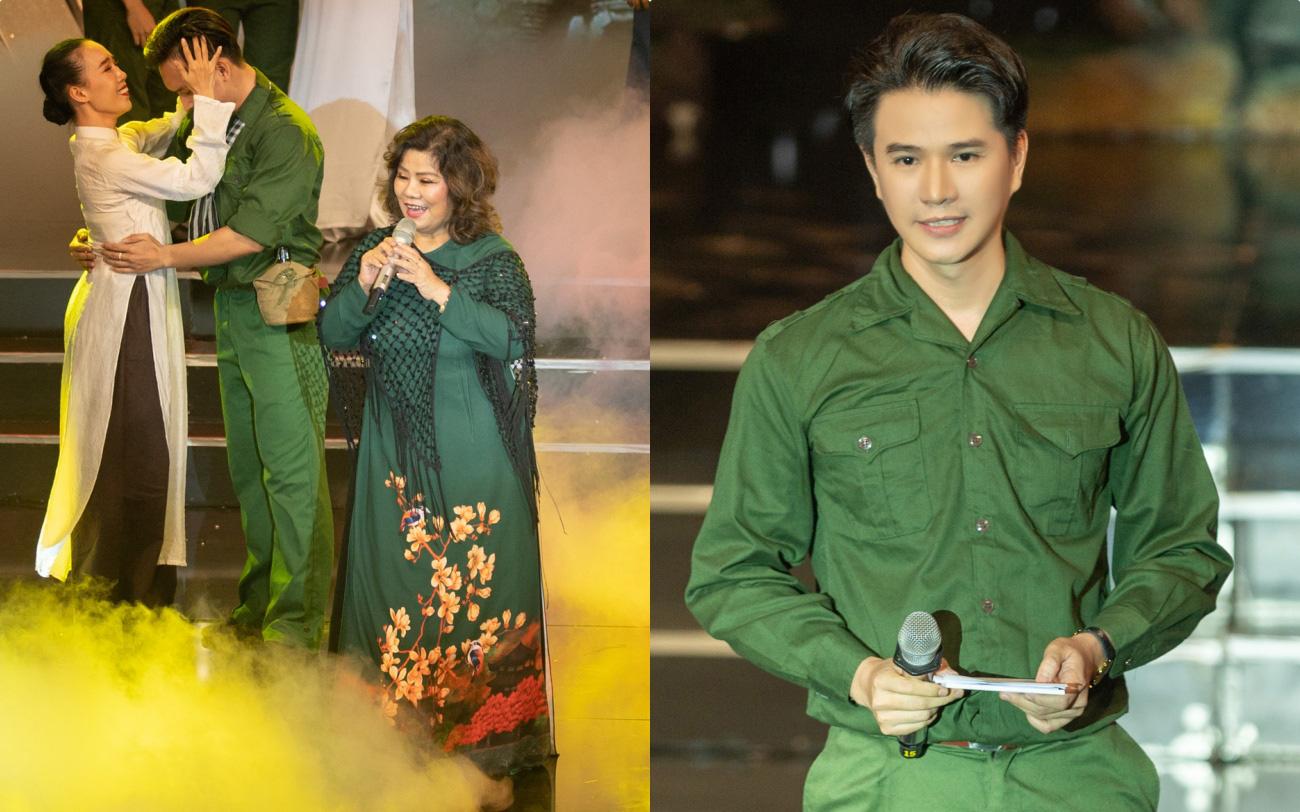 Đức Tuấn - NSND Thanh Hoa hát về người lính, MC Vũ Mạnh Cường rưng rưng xúc động