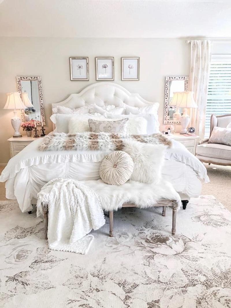 15 ý tưởng màu sắc phòng ngủ theo phong cách cổ điển ngọt ngào - Ảnh 9.