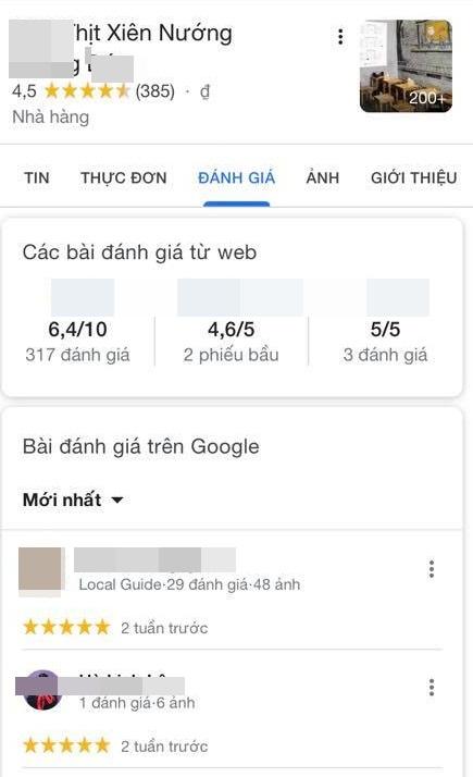 Google và Foody đồng loạt xóa nhiều đánh giá của khách về quán thịt xiên nướng Chùa Láng chửi mắng shipper - Ảnh 3.