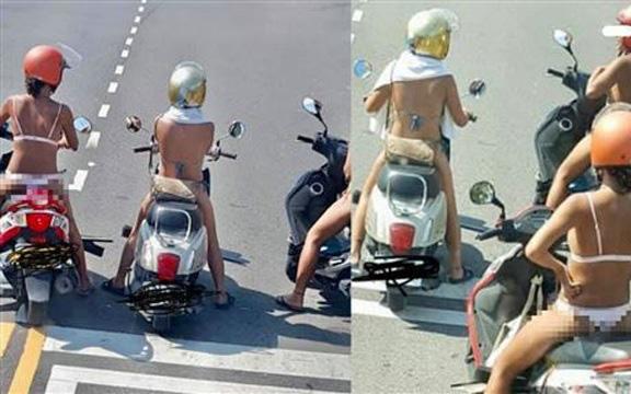 Mặc đồ lót ra đường còn thản nhiên diễu phố, 3 cô gái khiến dân tình vô cùng phẫn nộ
