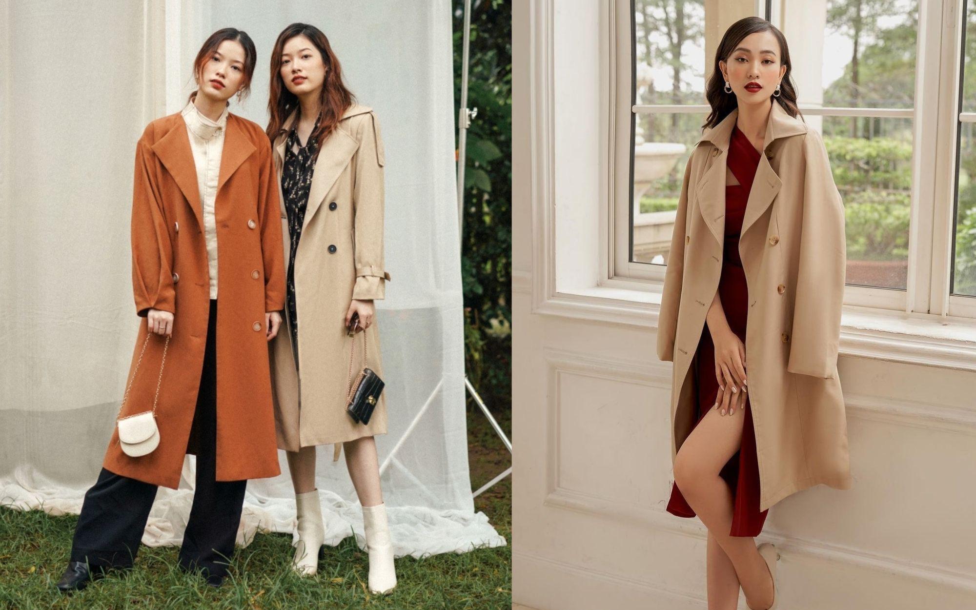 10 mẫu trench coat từ 450k, chị em sắm ngay để Tết Tân Sửu trời lạnh hay không cũng mặc đẹp hết ý