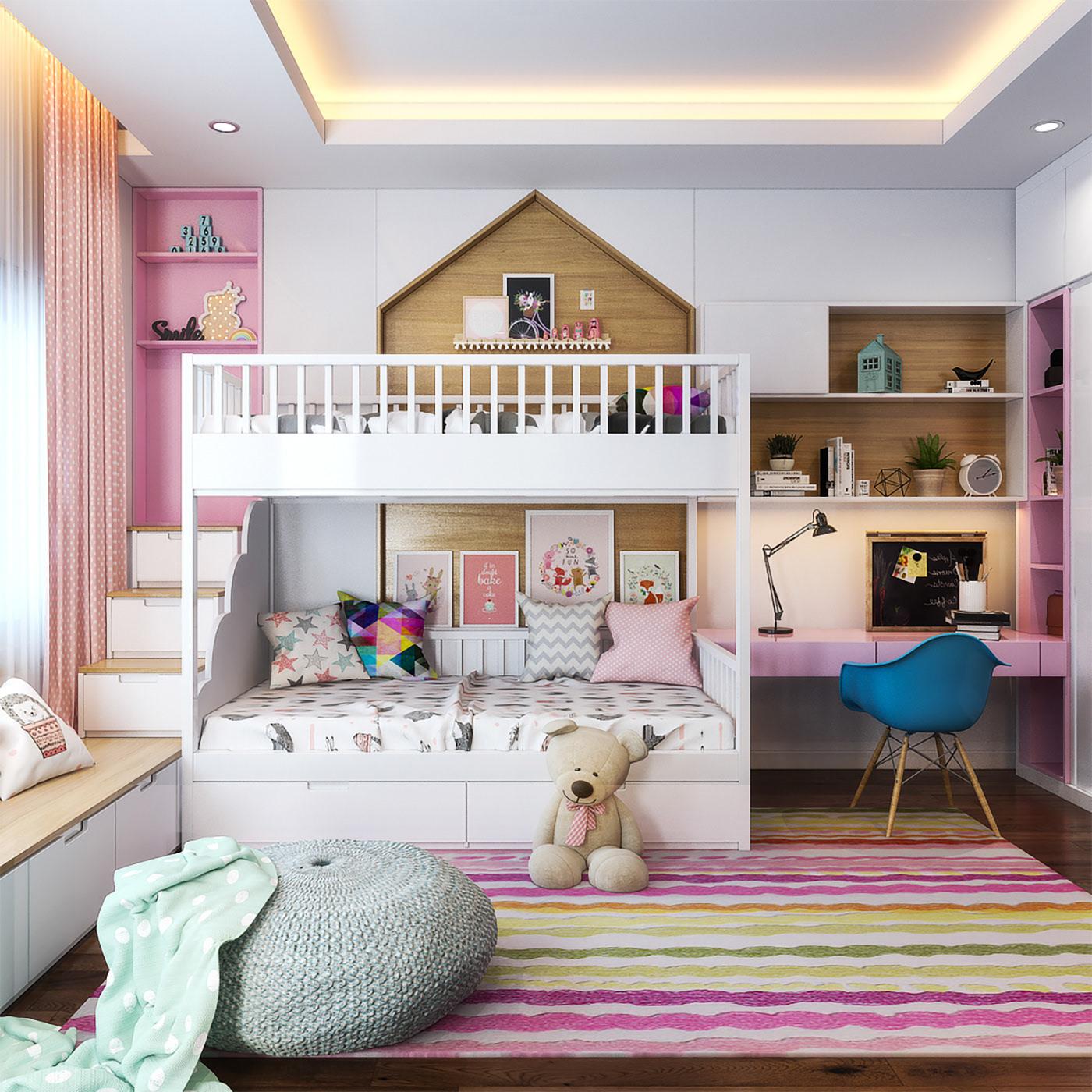 Kiến trúc sư vấn thiết kế căn hộ 67m² 3 phòng ngủ với chi phí 93 triệu đồng - Ảnh 12.