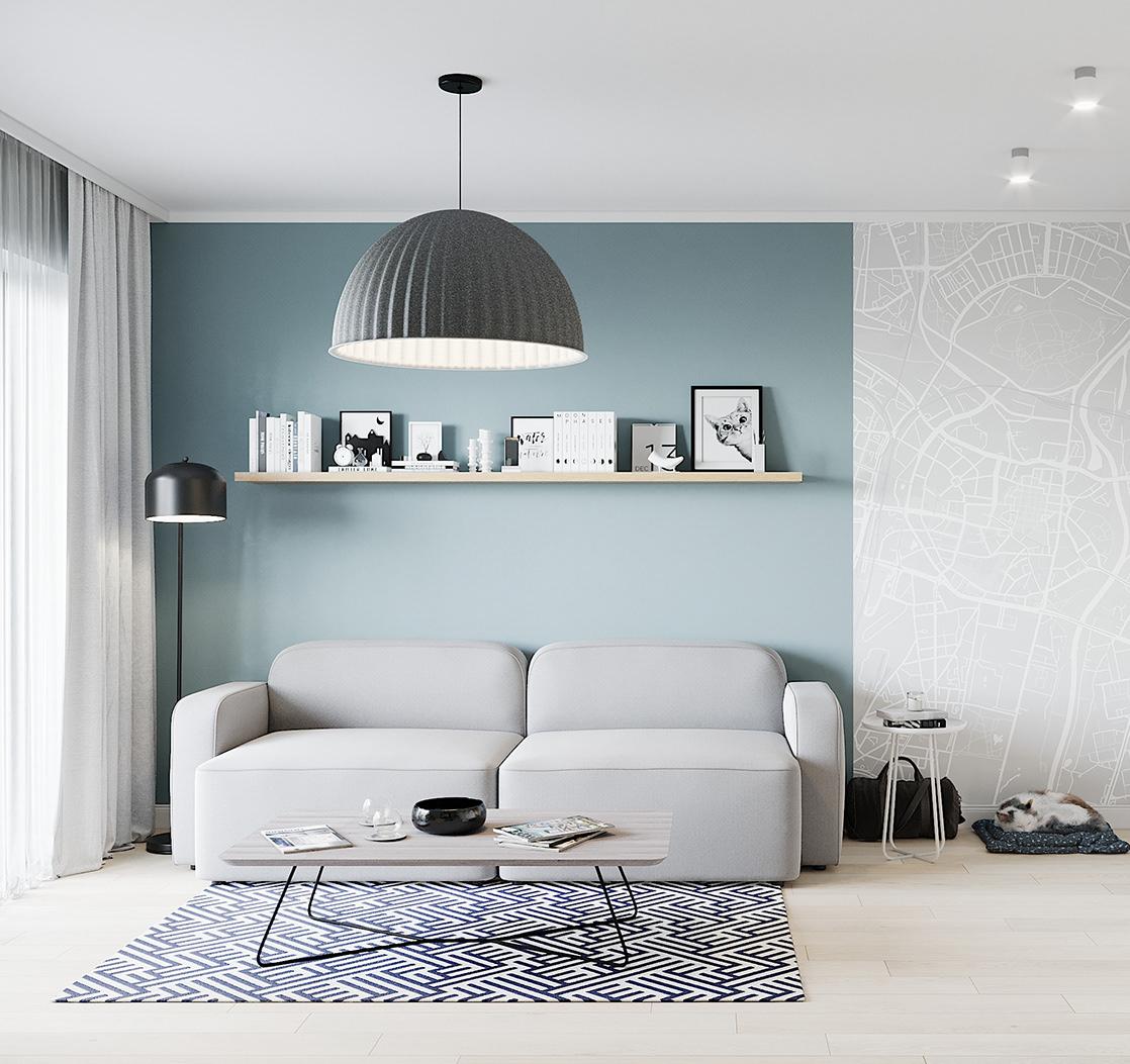 Kiến trúc sư vấn thiết kế căn hộ 67m² 3 phòng ngủ với chi phí 93 triệu đồng - Ảnh 4.