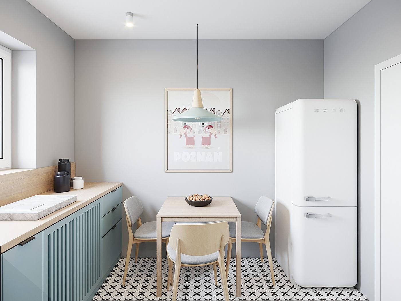 Kiến trúc sư vấn thiết kế căn hộ 67m² 3 phòng ngủ với chi phí 93 triệu đồng - Ảnh 5.
