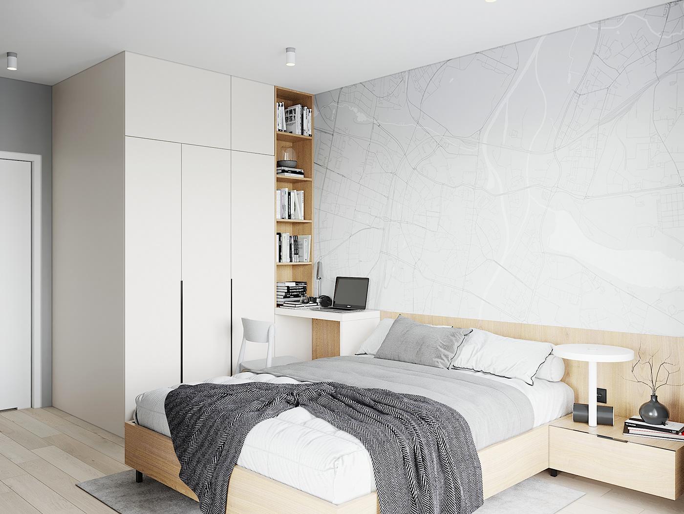 Kiến trúc sư vấn thiết kế căn hộ 67m² 3 phòng ngủ với chi phí 93 triệu đồng - Ảnh 8.