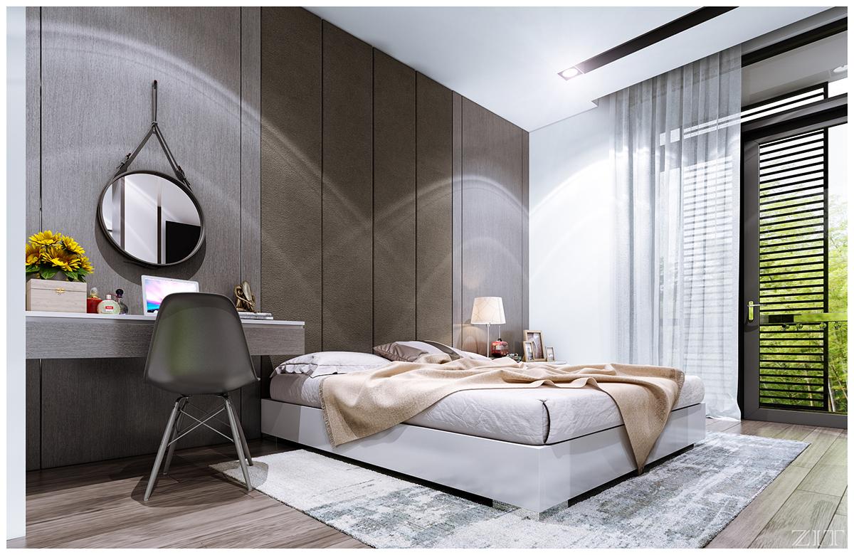 Kiến trúc sư vấn thiết kế căn hộ 67m² 3 phòng ngủ với chi phí 93 triệu đồng - Ảnh 10.