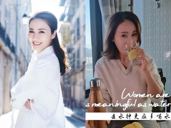 """""""Đệ nhất mỹ nhân TVB"""" bật mí thời điểm không được uống nước để da dẻ mịn màng, tươi trẻ: Bí mật nhan sắc tuổi 49 nằm hết ở đây - Ảnh 1."""