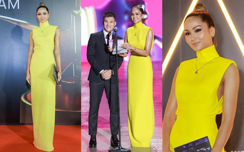 """Không quá lồng lộn nhưng H'Hen Niê vẫn """"chơi chiêu"""" tại WeChoice Awards, đẹp như tượng tạc trên thảm đỏ"""