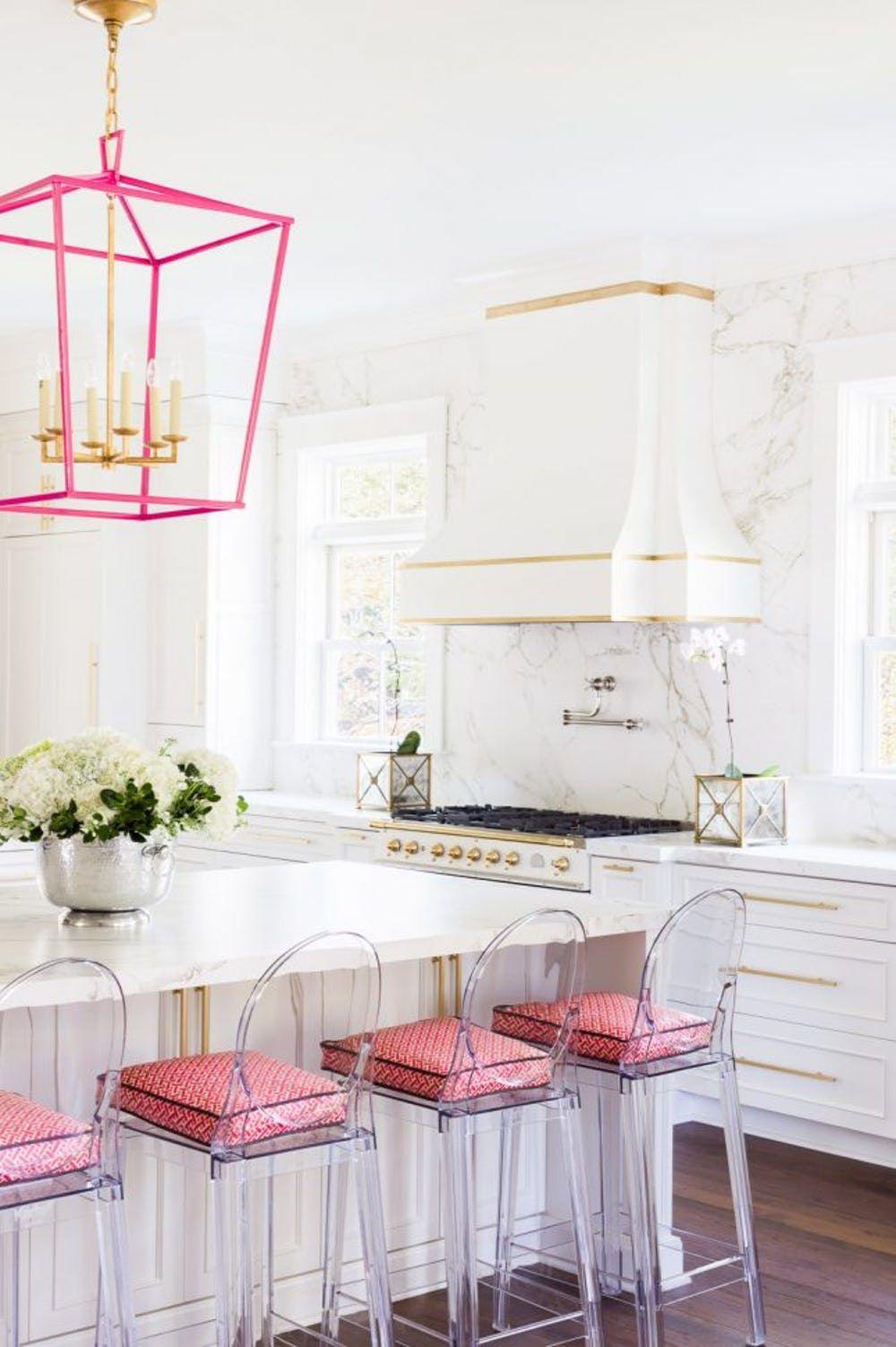 Những mẫu phòng bếp màu hồng đầy nữ tính và quyến rũ - Ảnh 1.