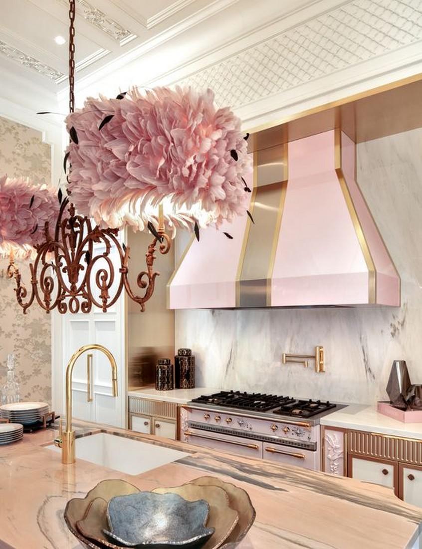 Những mẫu phòng bếp màu hồng đầy nữ tính và quyến rũ - Ảnh 5.