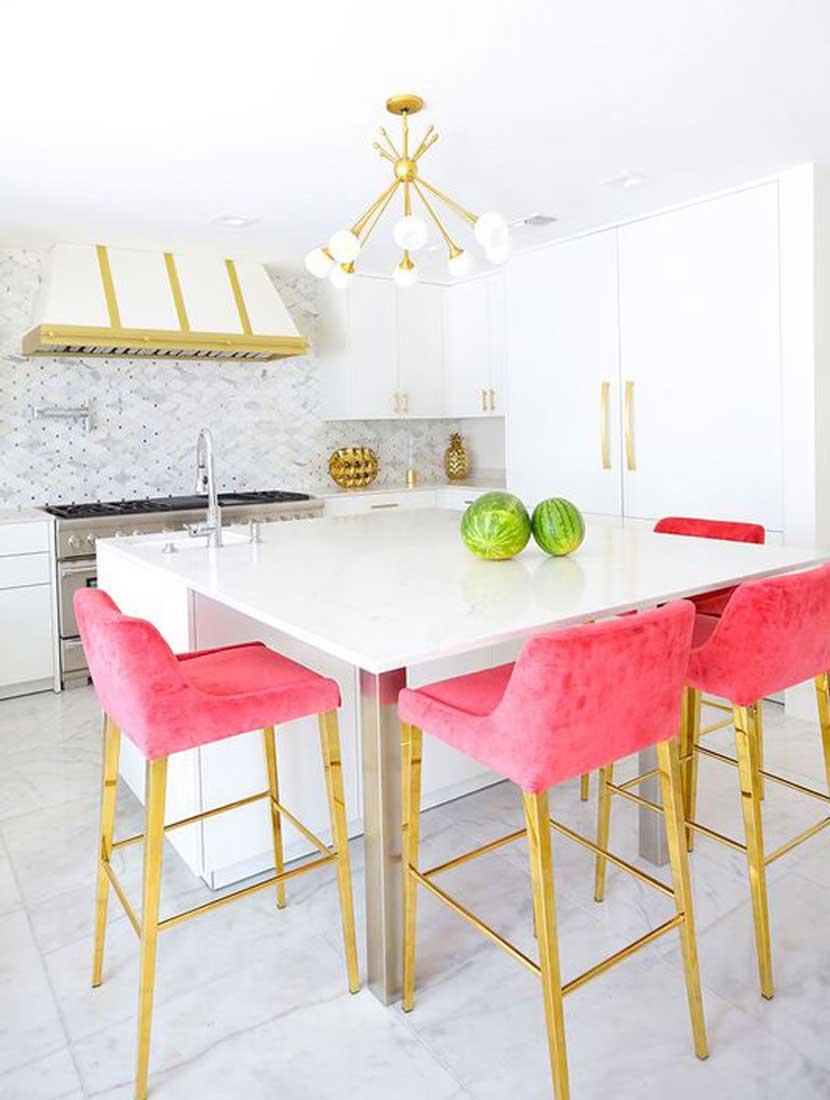 Những mẫu phòng bếp màu hồng đầy nữ tính và quyến rũ - Ảnh 6.