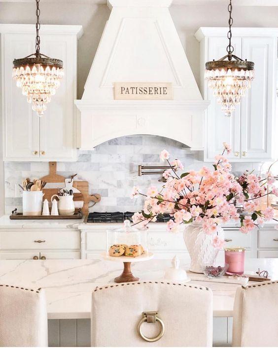 Những mẫu phòng bếp màu hồng đầy nữ tính và quyến rũ - Ảnh 7.