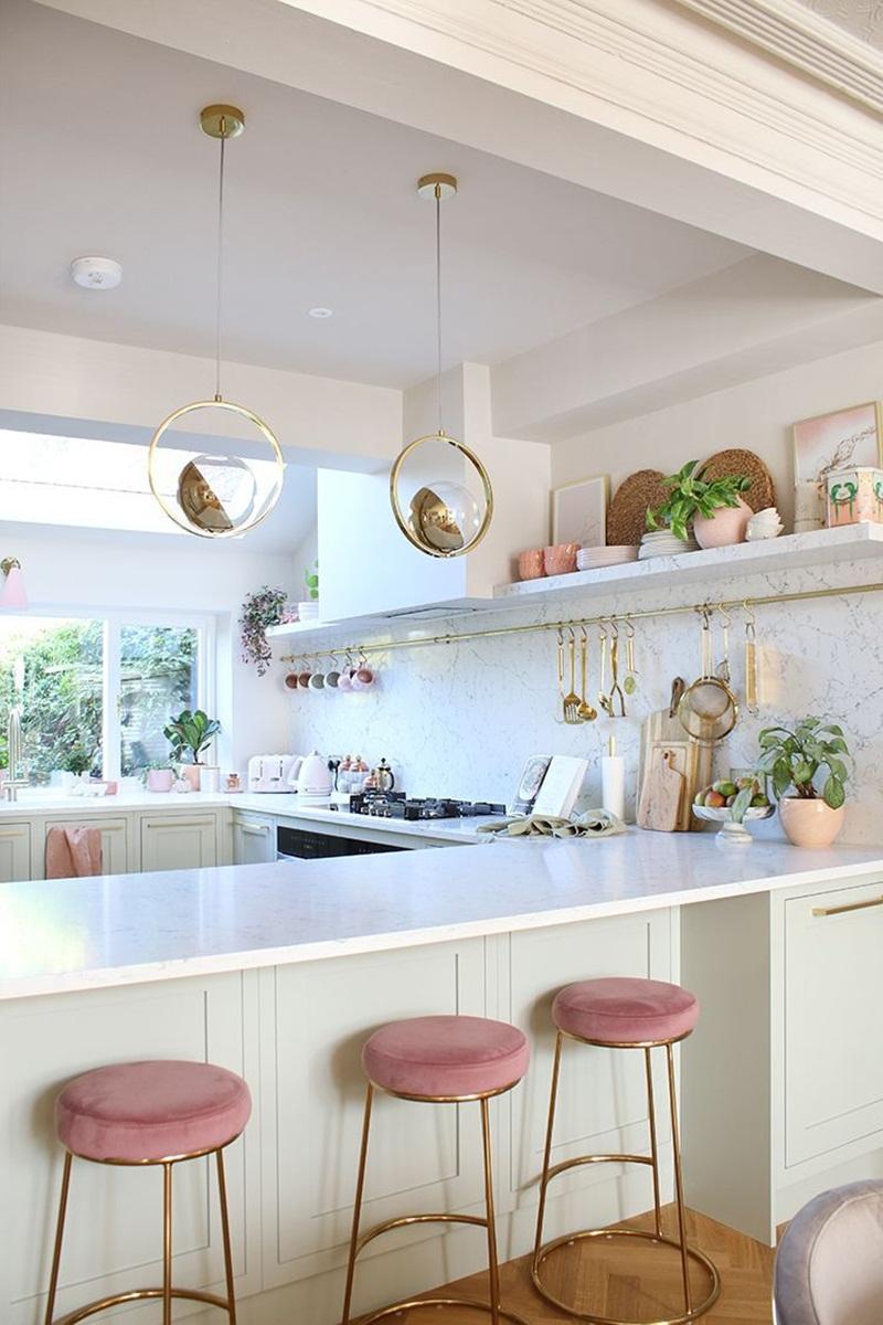 Những mẫu phòng bếp màu hồng đầy nữ tính và quyến rũ - Ảnh 8.