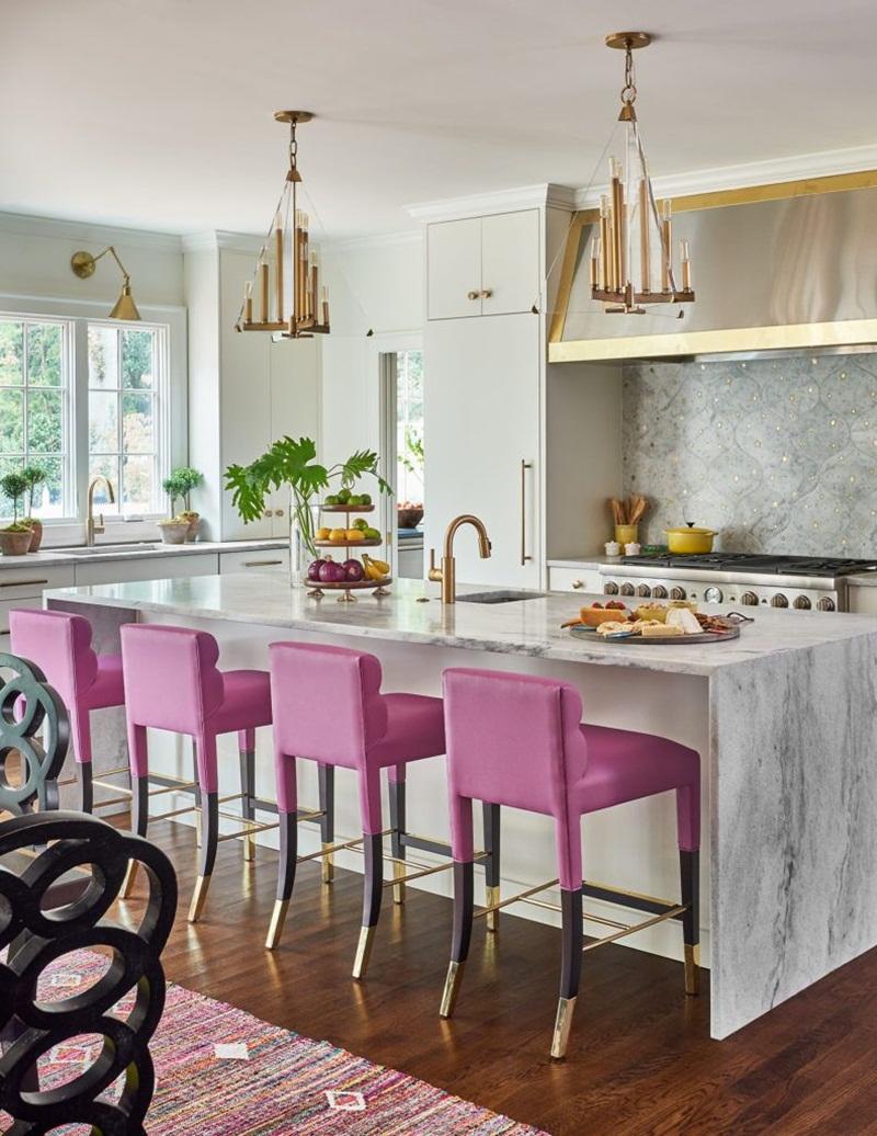 Những mẫu phòng bếp màu hồng đầy nữ tính và quyến rũ - Ảnh 2.