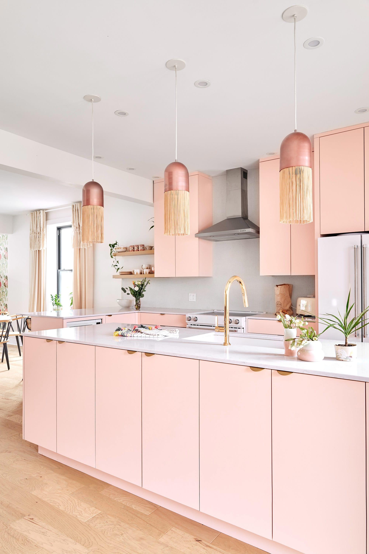 Những mẫu phòng bếp màu hồng đầy nữ tính và quyến rũ - Ảnh 4.