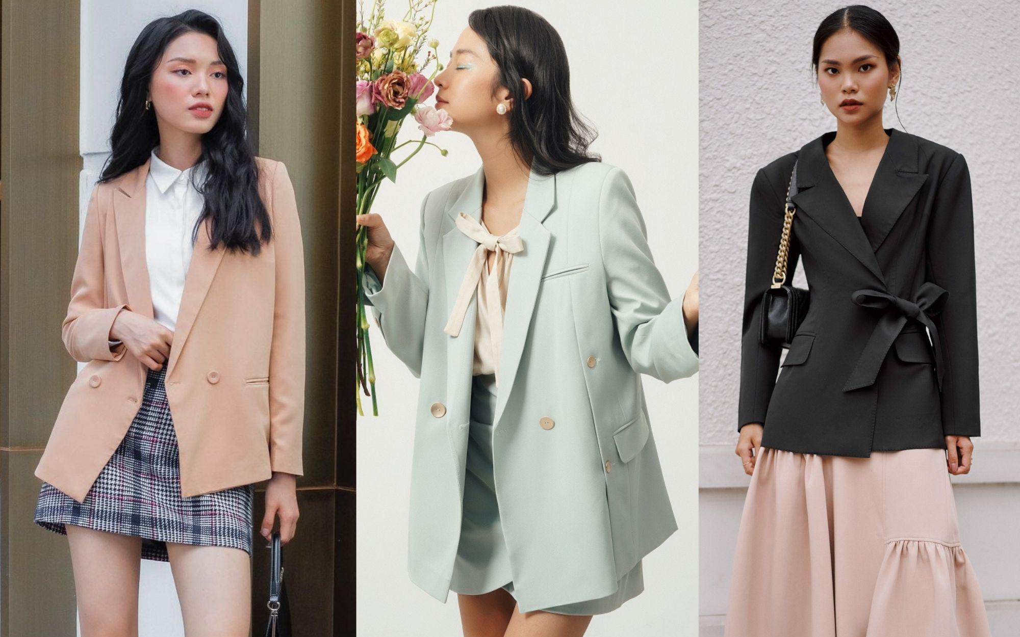 10 mẫu áo blazer rất trẻ trung nhưng ghi điểm thanh lịch tuyệt đối để diện Tết, hay nhất là chỉ có giá từ 520k