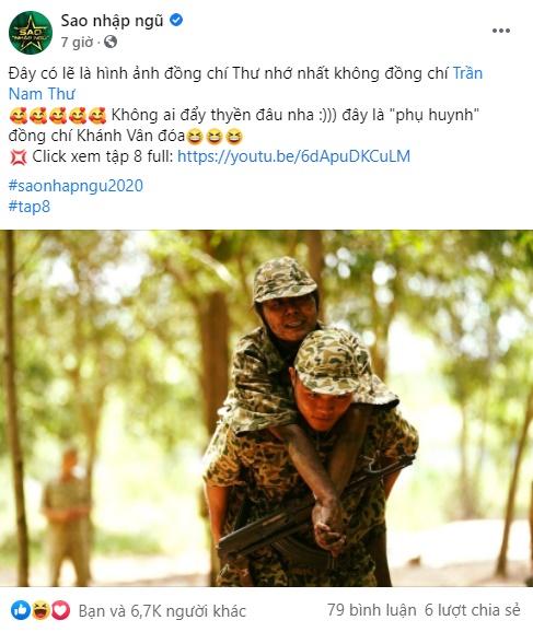 """Sao nhập ngũ: Đăng ảnh Nam Thư được quân nhân cõng, tưởng gây xúc động nào ngờ fan vào đẩy thuyển Khánh Vân - Chú Ngạn """"pha ke"""" - Ảnh 3."""