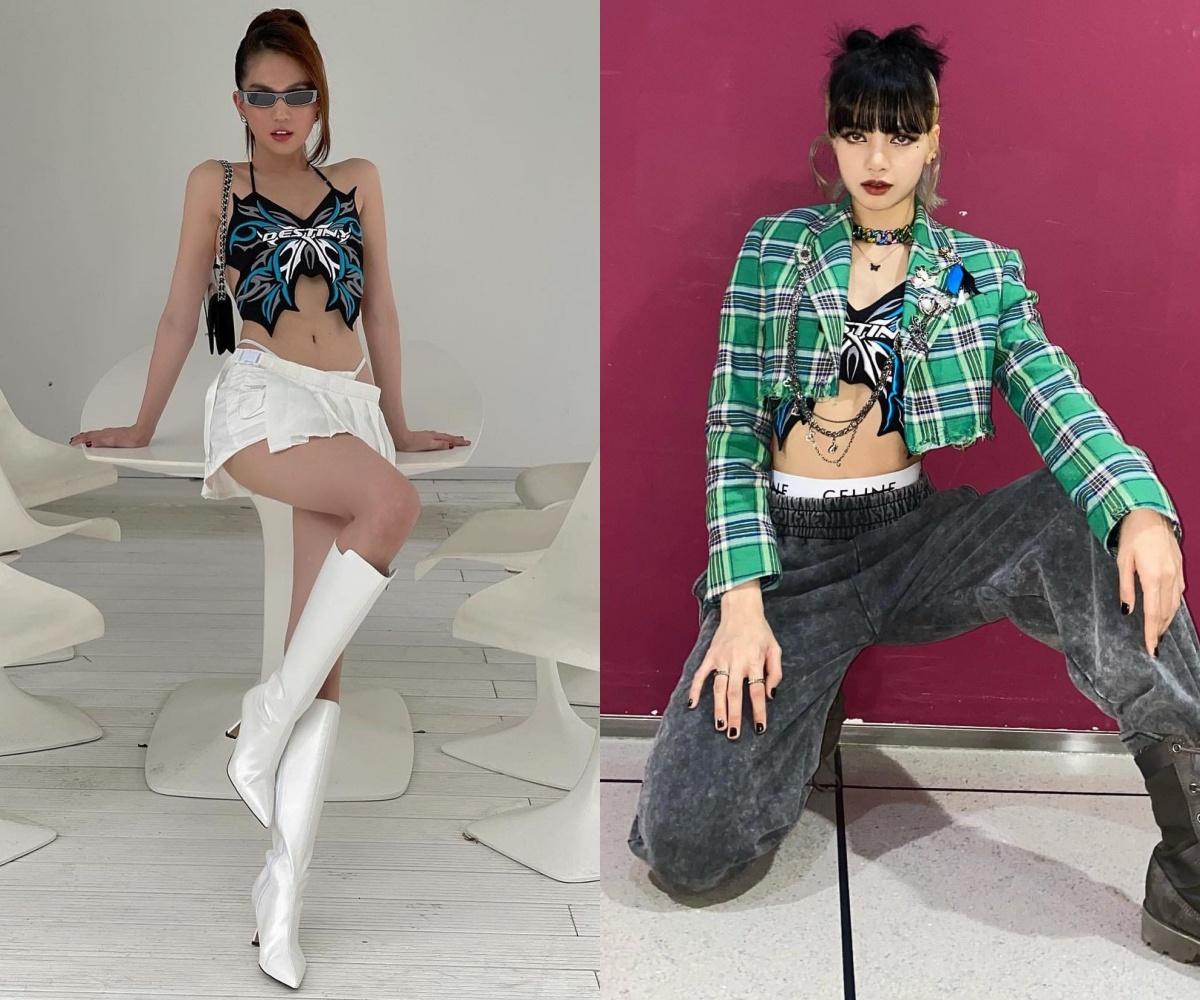 Ngọc Trinh diện chung áo với Lisa (BLACKPINK): Style khác biệt, đẳng cấp cũng cách biệt rõ ràng - Ảnh 7.
