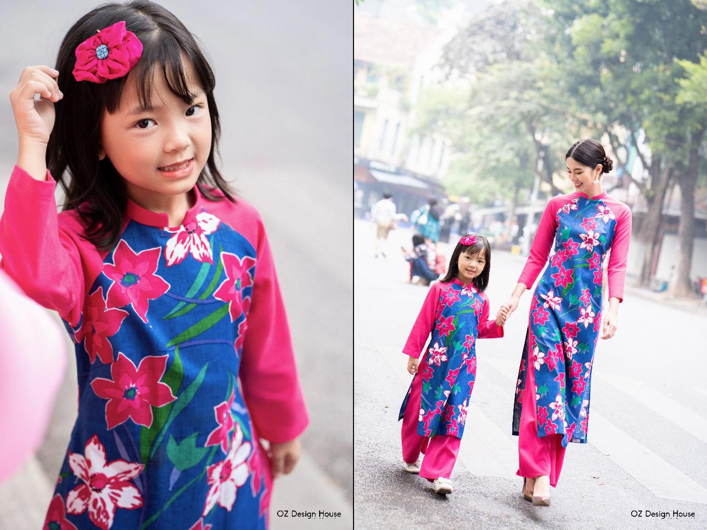 """Ngọt lịm tim với BST áo dài mẹ và bé mang tên """"Ý Xuân"""" - Ảnh 5."""