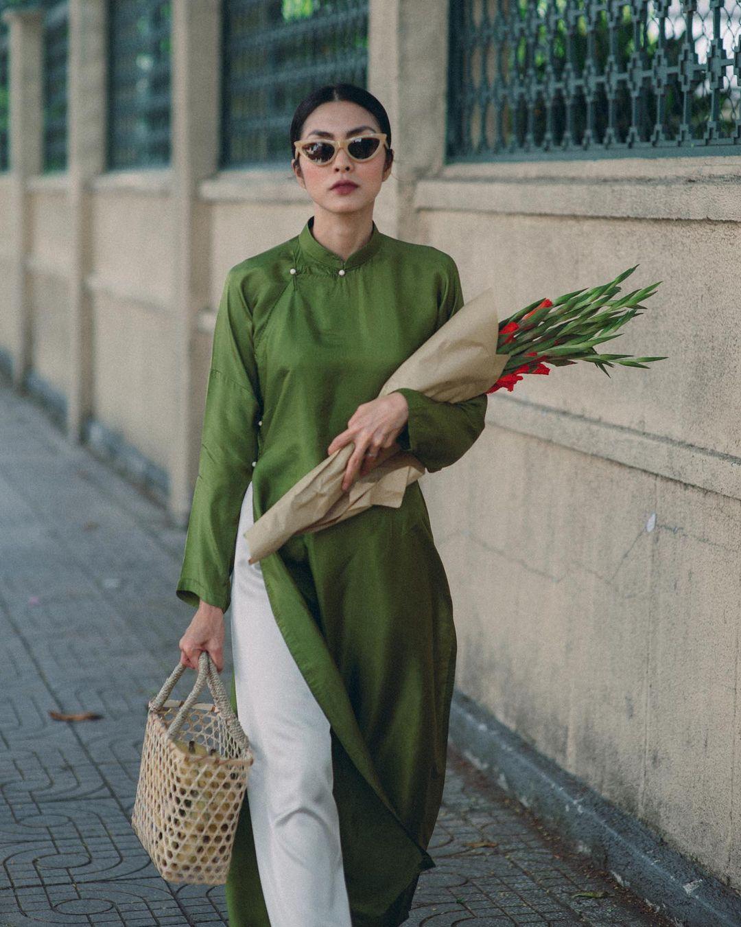 Sao Việt rộn ràng diện áo dài đón Tết sớm, kiểu hot hit nhất năm nay nằm cả ở chi tiết này - Ảnh 1.