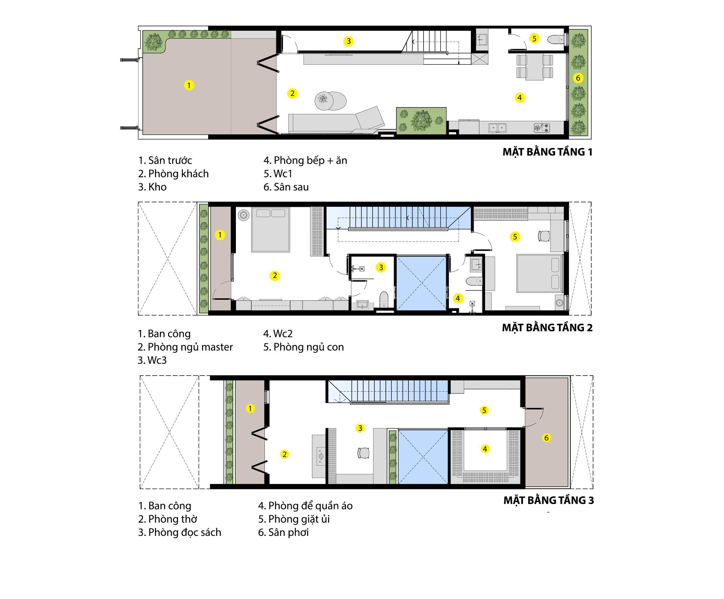 Nhà phố 3 tầng đẹp hiện đại với phong cách tối giản ngập tràn ánh sáng và cây xanh ở Đà Nẵng - Ảnh 3.