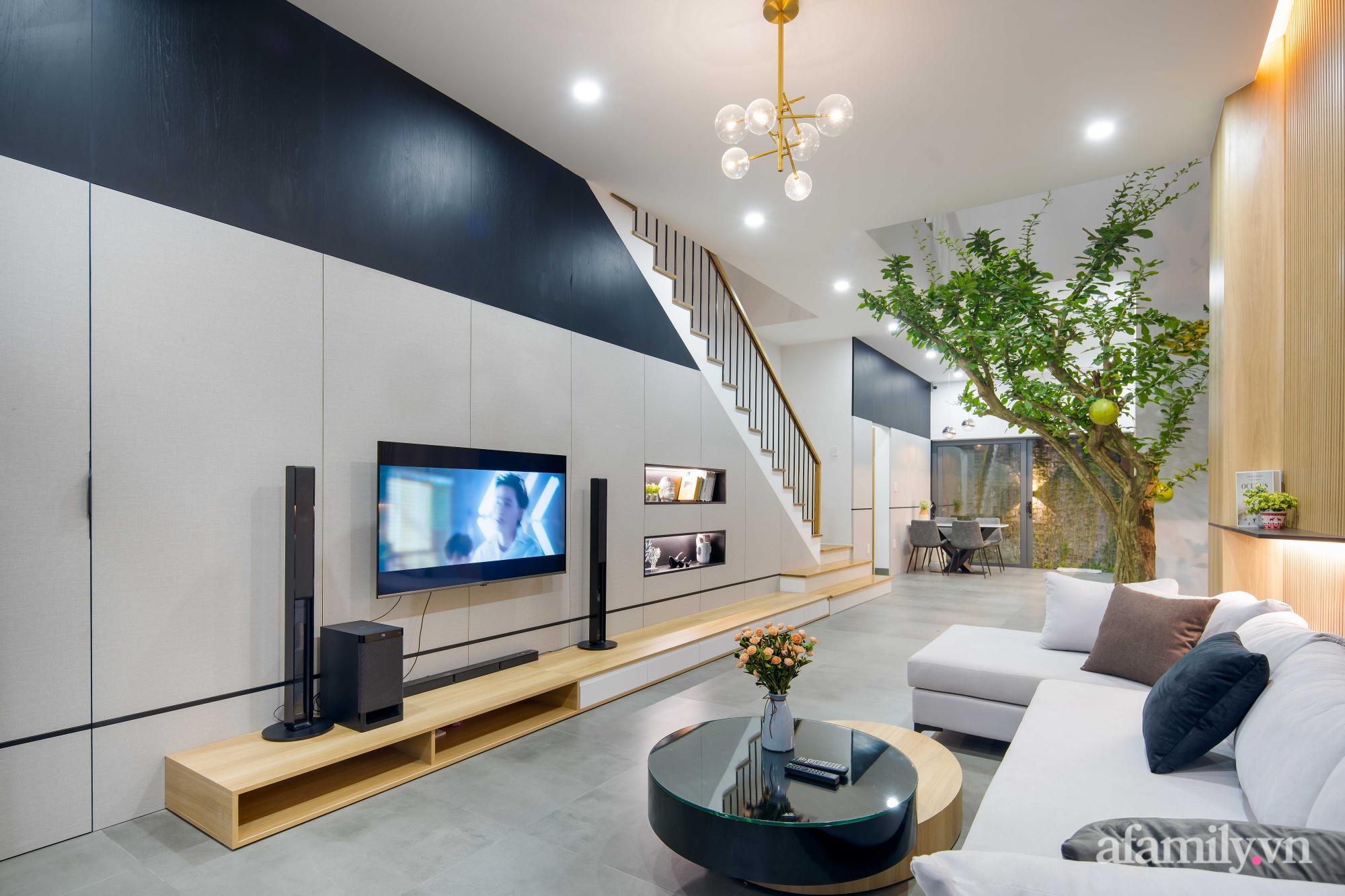 Nhà phố 3 tầng đẹp hiện đại với phong cách tối giản ngập tràn ánh sáng và cây xanh ở Đà Nẵng - Ảnh 6.