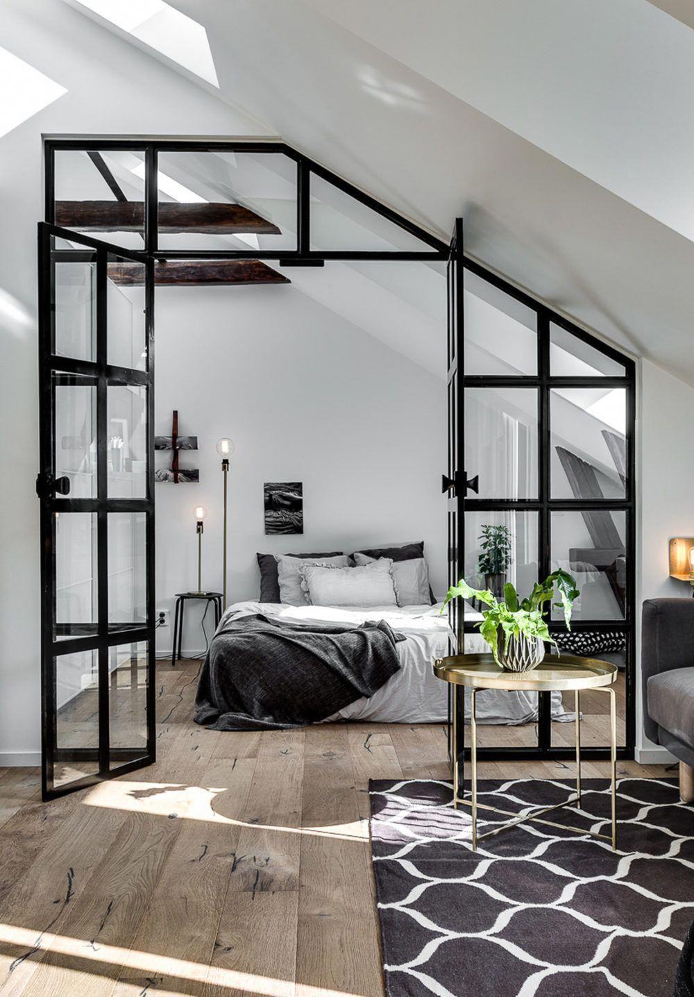 10 mẫu phòng ngủ lý tưởng với vách ngăn bằng kính với không gian còn lại trong nhà - Ảnh 2.