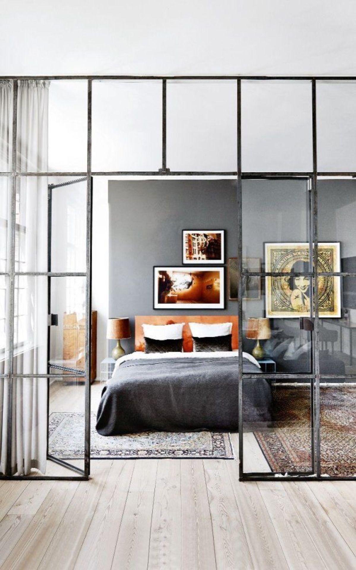 10 mẫu phòng ngủ lý tưởng với vách ngăn bằng kính với không gian còn lại trong nhà - Ảnh 8.