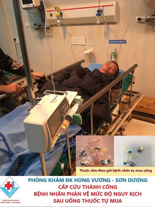 Bệnh nhân sốc  phản vệ nguy kịch sau khi uống thuốc tự mua để điều trị bệnh rát họng - Ảnh 1.
