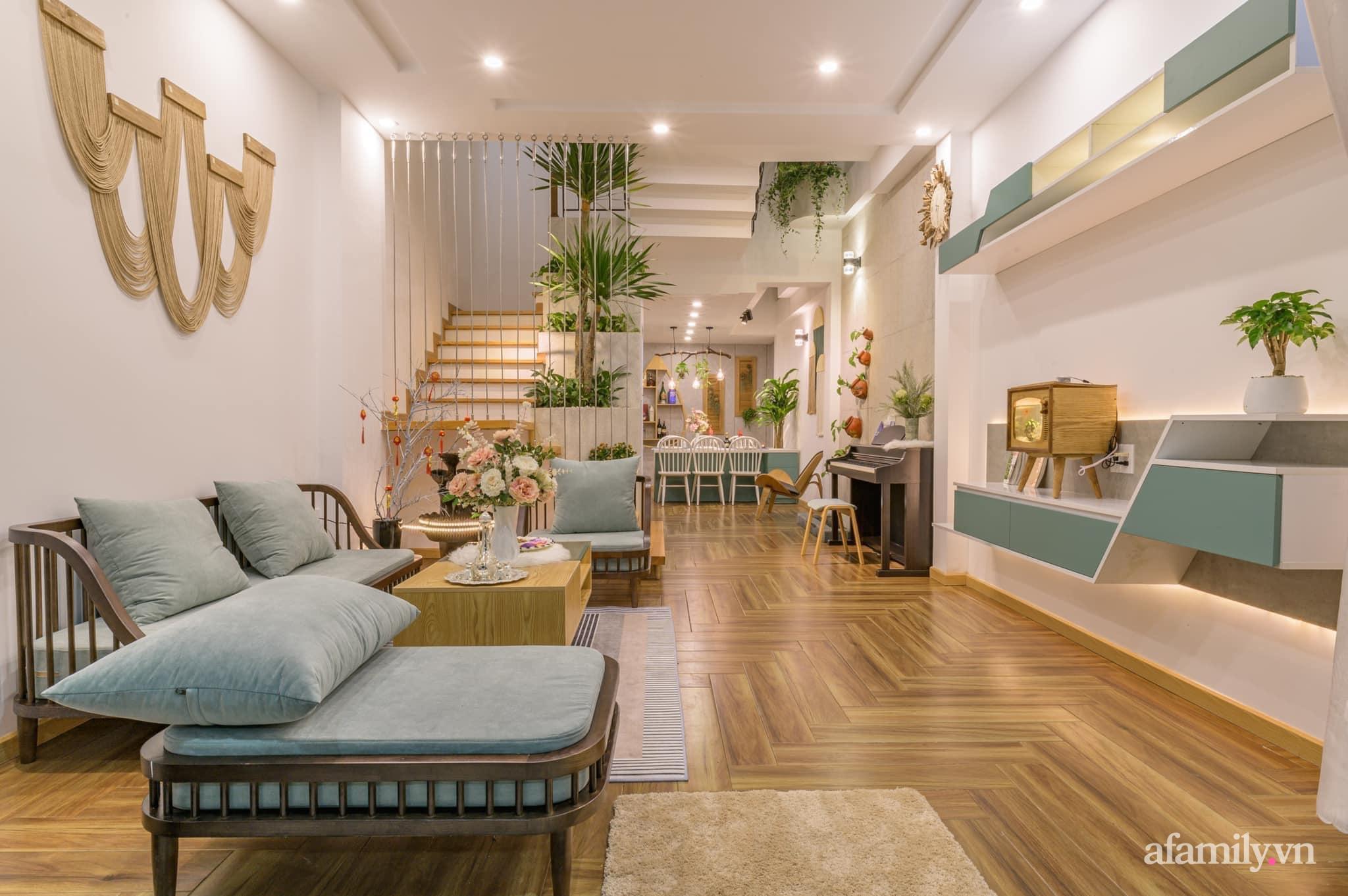 Nhà phố 4 tầng rộng 58m² đẹp an yên với giếng trời nhiều cây xanh và ánh nắng ngập tràn ở Đà Nẵng - Ảnh 4.